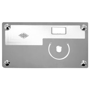 Rockwood Kenworth stainless steel wiper/washer switch plate w/knob - No Rocker Switch Hole