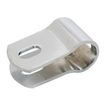 "Chrome heavy duty offset mirror mounting clamp, 3/4"" diameter"