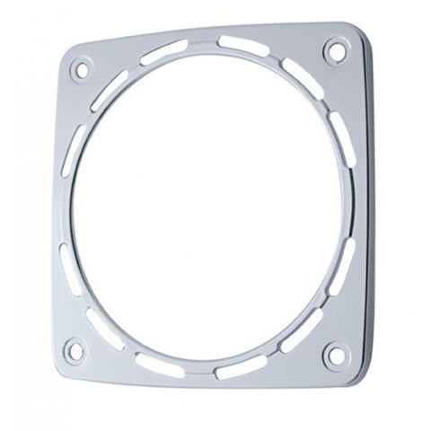 Square chrome plastic bezel for double-face LED light