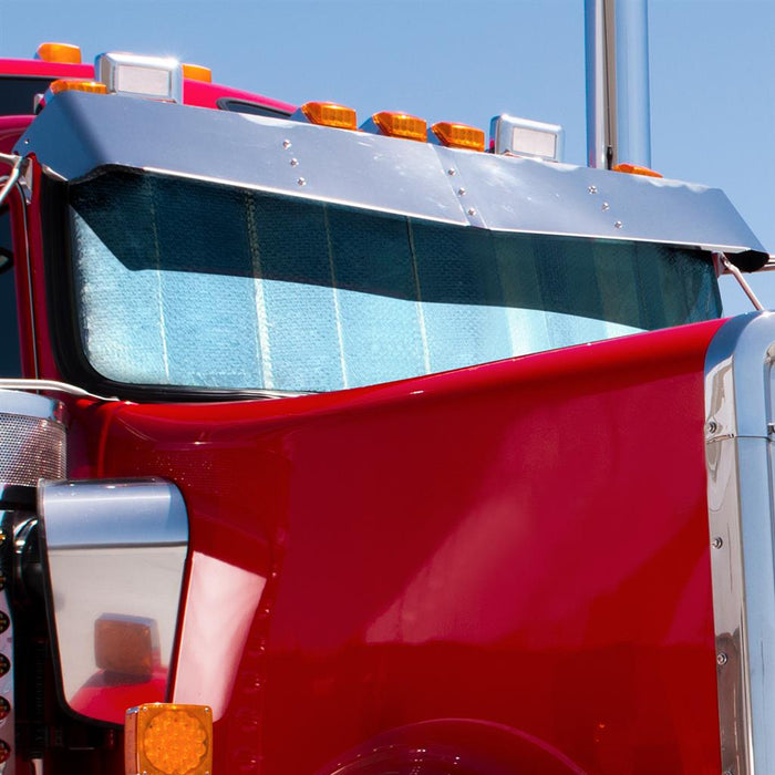 Kenworth W900 reflective cooling window shade