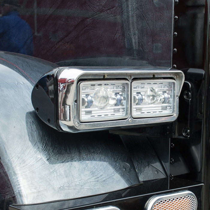 "4"" x 6"" rectangular projection-style LED headlight - HEATED"