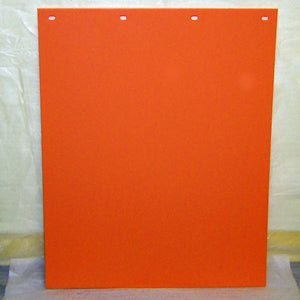 "24"" x 30"" bright colored plastic mudflap - Orange"