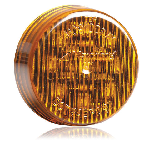 "Maxxima Amber 9 diode 2"" round LED marker light"