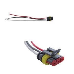 3-prong stop/turn/tail plug for LED lights w/straight-style plug