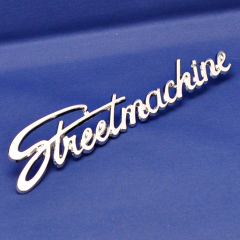 "Chrome die cast ""Streetmachine"" emblem w/studs"