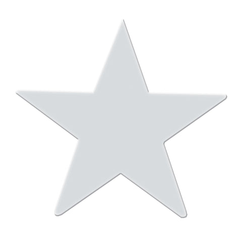 "3"" chrome steel star decorative cutout"