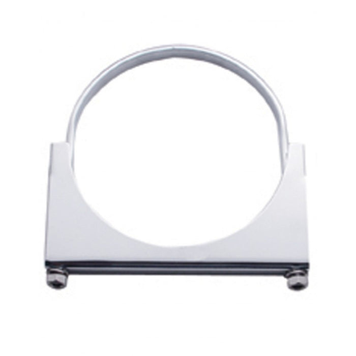 "Stainless steel 4"" diameter u-bolt exhaust mounting clamp"