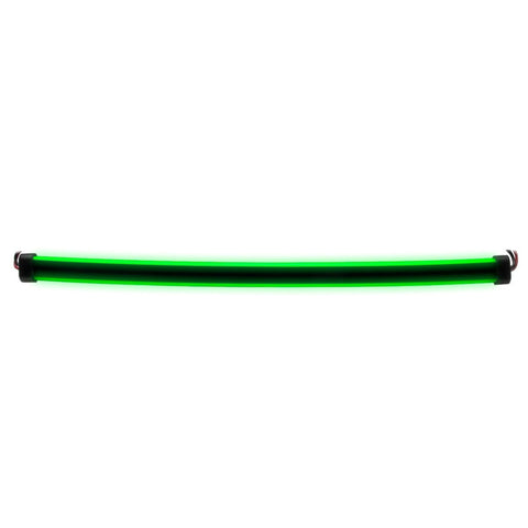 "Green LED glow strip light - Side Shine - 24"" length"