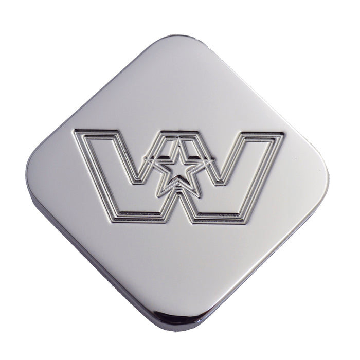 Western Star logo chrome billet aluminum brake knob - SINGLE