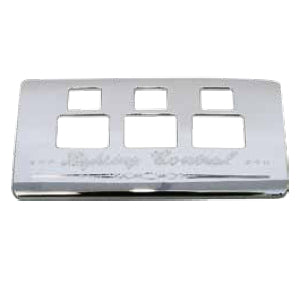 Kenworth 2006+ chrome plastic light switch control panel trim - 3 switch holes