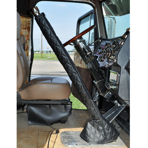 "42"" quilted vinyl gear shift tower cover and boot"