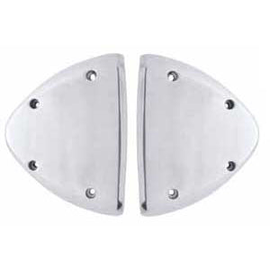 Cast aluminum Peterbilt dual headlight turn signal cover - PAIR