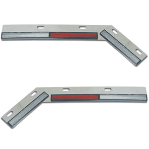 Stainless steel angled mudflap hanger reflector bar - PAIR