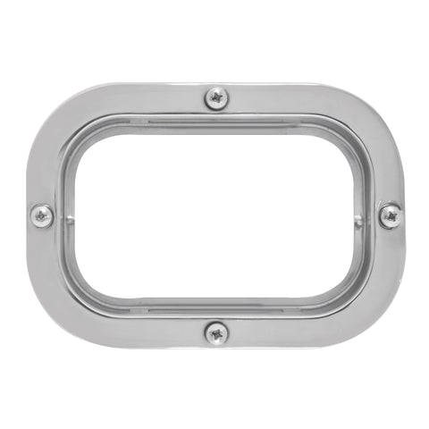 Rectangular stainless steel light mounting flange