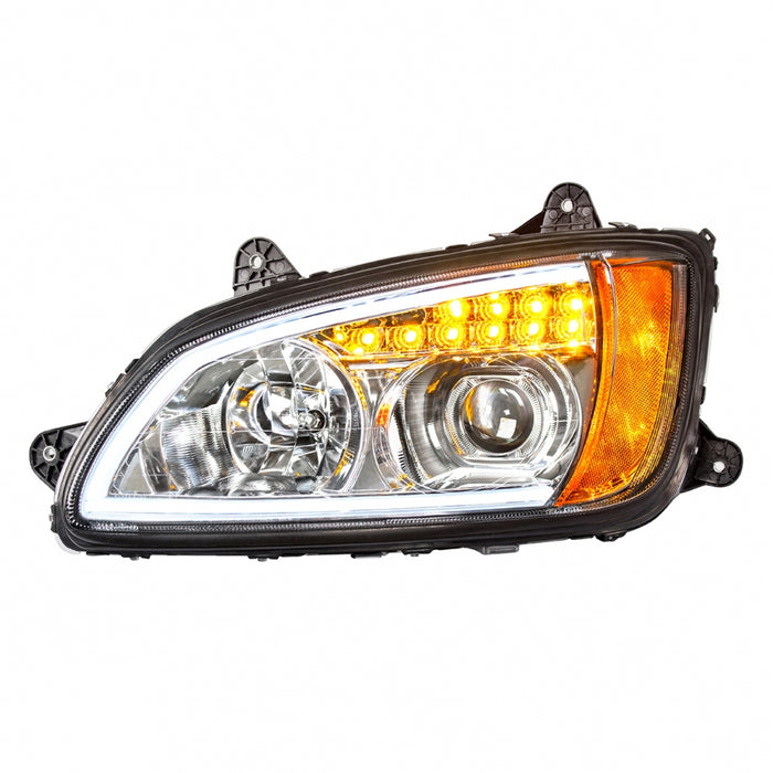 Kenworth T660 projection-style headlight w/LED turn signal