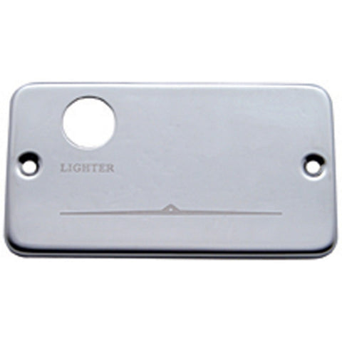 Freightliner stainless steel switch plate panel with lighter hole only