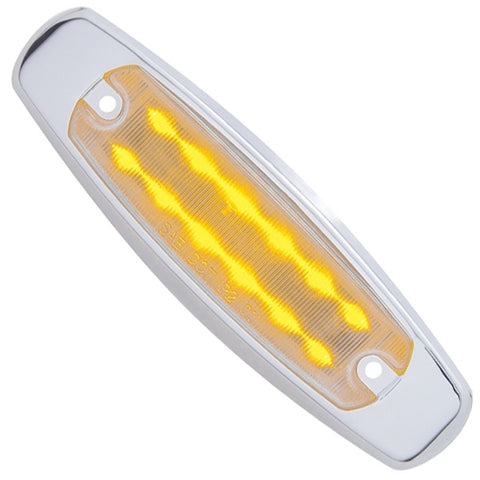 Amber 12 diode Peterbilt-style LED marker light - CLEAR lens