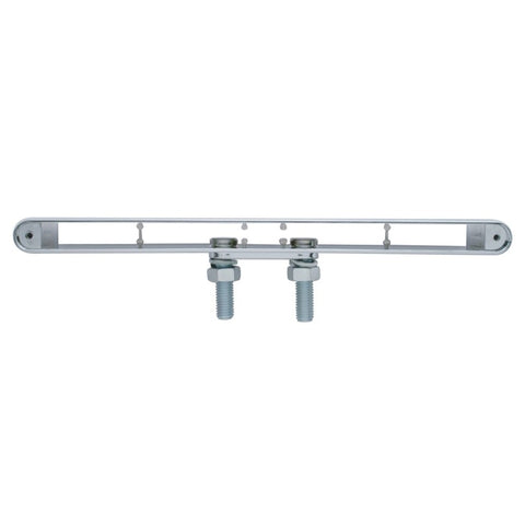 "Chrome plastic dual-face light bar housing for 12"" long LED light"
