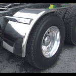 "66"" stainless steel half fender for semi trucks - PAIR"
