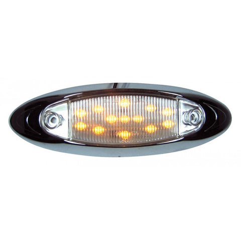 """Infinity"" Amber 13 diode LED marker/clearance light - CLEAR lens"