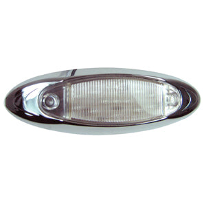 """Infinity"" Red 13 diode LED marker/clearance light - CLEAR lens"
