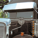 "Freightliner Classic/FLD condo/midroof 16"" stainless steel gangster visor"