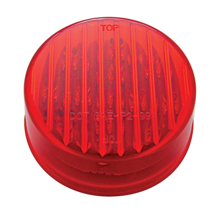 "Red 2.5"" round 13 diode LED marker/clearance light"