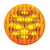 "Amber 2.5"" round 13 diode LED marker/clearance light"