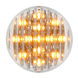 "Amber 2.5"" round 13 diode LED marker/clearance light - CLEAR lens"