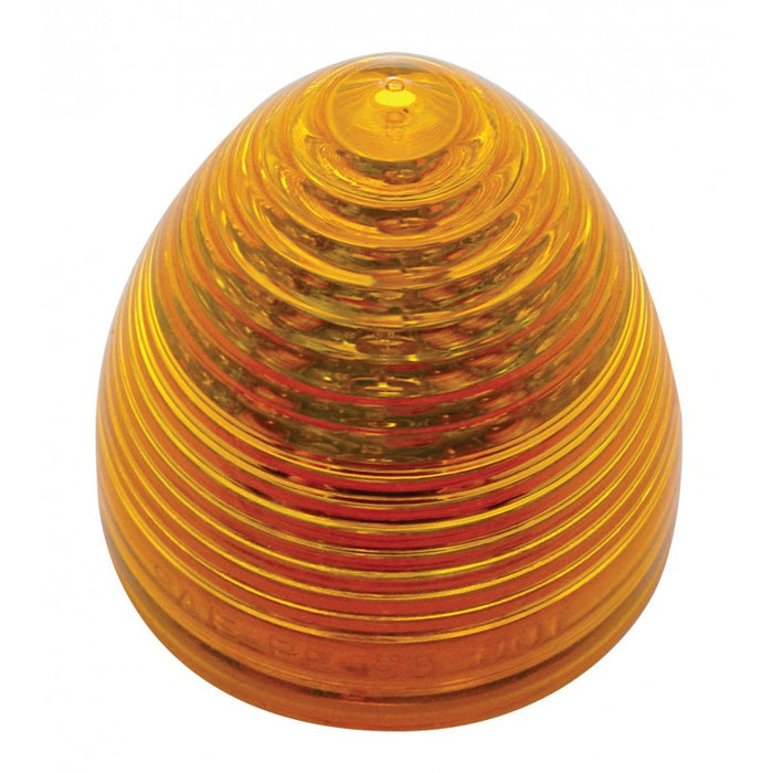 "Amber 2.5"" beehive 13 diode LED marker light"