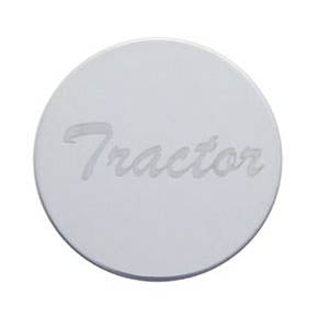 Etched stainless steel plate for air brake valve knobs