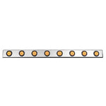 "48"" stainless steel channel w/8 round 2"" light holes"