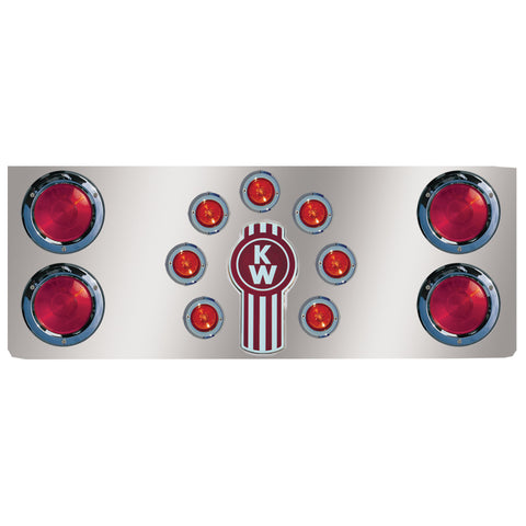 "14"" stainless steel rear center panel w/4 round 4"" holes, 7 round 2"" light holes"