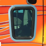 Peterbilt 387 stainless steel view window surround