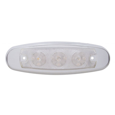 Amber Peterbilt-style 15 diode LED marker light - CLEAR lens
