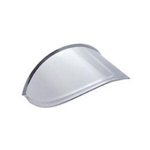 "7"" diameter single round headlight stainless steel visor"