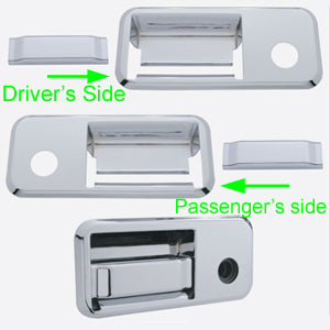 Volvo chrome plastic exterior door handle cover - PAIR, 4 piece kit