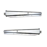 Chrome straight spring-loaded mudflap hangers - PAIR