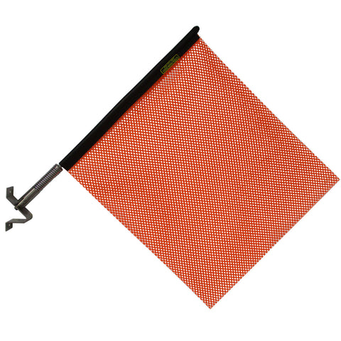 "18"" orange oversize load flag with quick mount connector - INCLUDES BRACKET"
