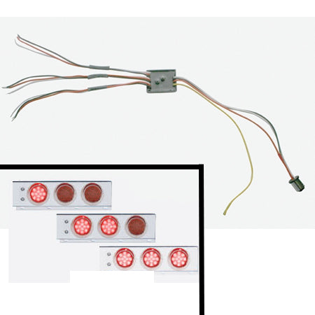 Sequential LED turn signal kit for mudflap hangers