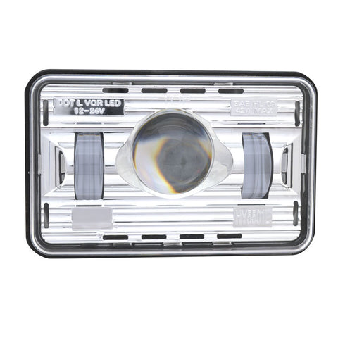 "4"" x 6"" rectangular projection-style LED headlight"