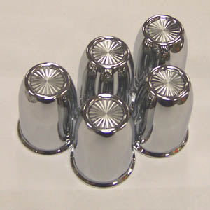 Vortex 30mm diameter chrome plastic push-on frame bolt cover