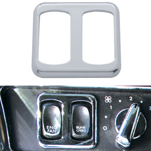 Freightliner Century/Columbia chrome plastic power window switch bezel - driver's side