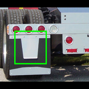 Stainless steel mudflap anti-sail panels - PAIR