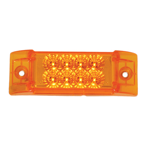 "Spyder Amber 2"" x 6"" rectangular 8 diode LED marker light"