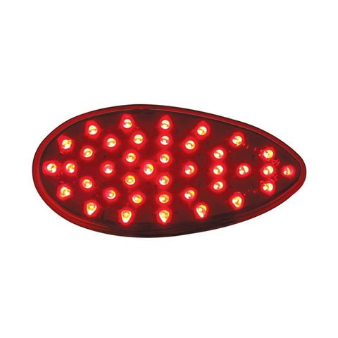 Red teardrop 39 diode LED stop/turn/tail flush mount light