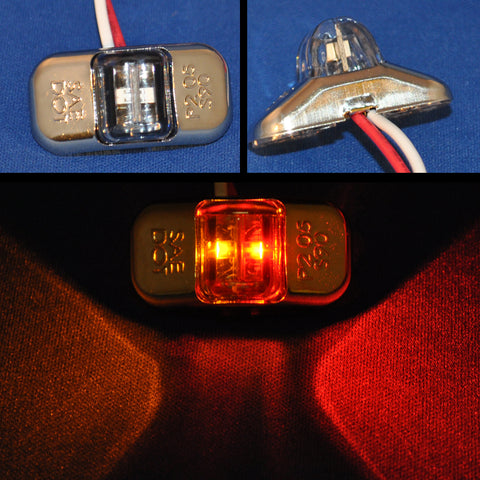 Amber/red mini 2 diode LED bumper light