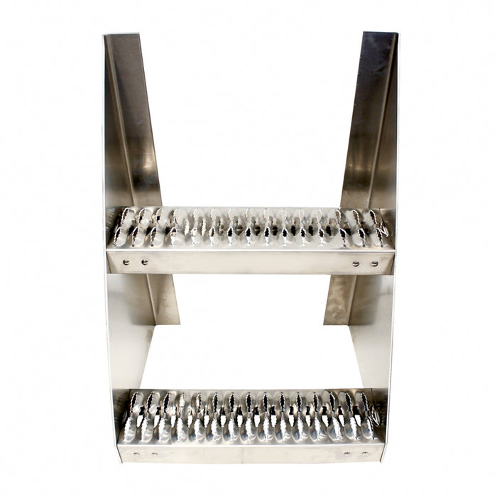 "24"" (H) x 18"" (L) aluminum frame step with two grip steps"
