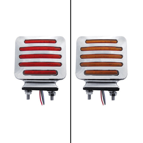 Flatline Amber/Red square 80 diode LED turn signal