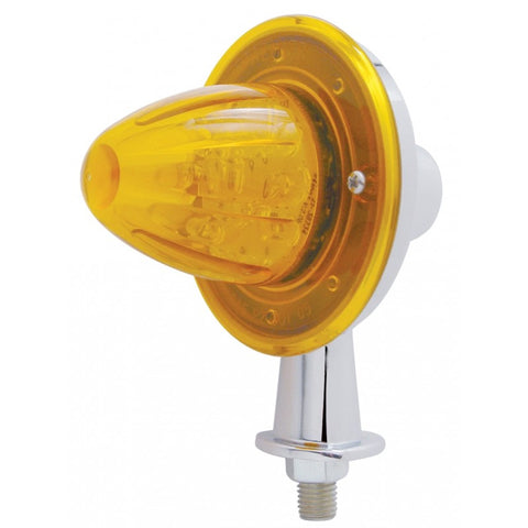 "Amber 13 diode LED honda marker light with 1-1/8"" arm"